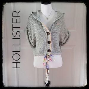 HOLLISTER Gray Crop Sweater